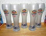 Erdinger Weißbierglas, weiß satiniert Floßfahrt-Gaudi Komplette Edition