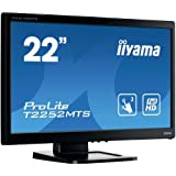 iiyama T2252MTS-3 - touch screen monitors (1920 x 1080 pixels, LED, AC, 100 - 240 V, 50/60 Hz, 16.5 x 240 x 377.5 mm)