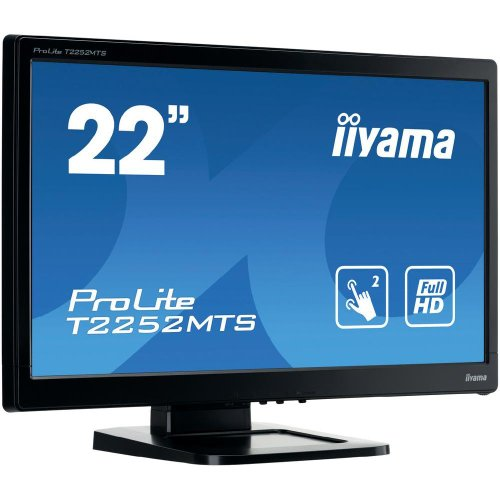 Iiyama T2252MTS-B3 54,6 cm (21,5 Zoll) LED-Monitor (VGA, 1920 x 1080 Pixel, 2ms Reaktionszeit) schwarz