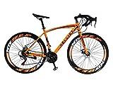 Helliot Bikes Sport 03 Bicicleta de Carretera Urbana, Adultos Unisex, Naranja, M-L