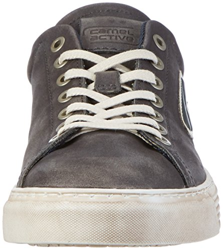 camel active Herren Bowl 22 Low-Top Schwarz (black/white 01)