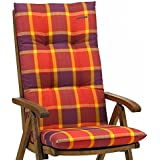 1Kettler Muebles de Jardín–Fregadero para sillas con respaldo alto Dessin 022en rojo