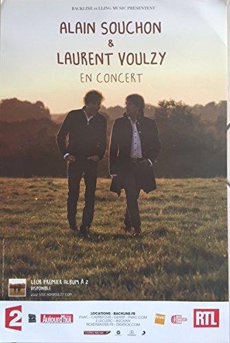 Alain Souchon - Laurent Voulzy - En Concert - 40x60cm AFFICHE / POSTER