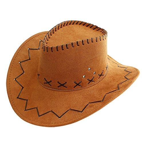 Liuhoulin Herren Cowboyhut Britischer Topper Sommer Outdoor Travel Width Eaves Visier, Sonnenschutz UV-Schutz (Color : Khaki) -