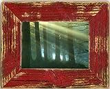 Landhaus cornice legno antico rosso, Legno, rosso, 13x18 cm zum hängen und stellen