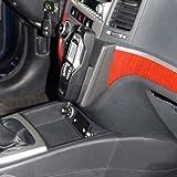 Kuda–Consola de teléfono para: Hyundai Santa Fe 'a partir de 03/06& A Partir de 2010piel negro