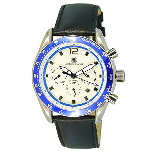 Constantin Durmont Men's Automatic Watch Analogue Display and Stainless Steel Strap CD-SLO-at-STSTBLWH-BL