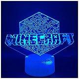 Luz De Noche En 3D Para Niños, Cubo De Rubik, Lámpara De Mesa De 7 Colores, Regalos Para El Festival De Luces Para El Dormitorio De Niños