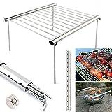 Fastar portatile pieghevole barbecue grill supporto, Stent stufa barbecue in acciaio INOX BBQ Holder