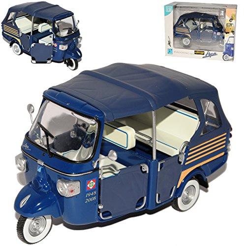 Preisvergleich Produktbild Vespa Piaggio Ape 50 Blau 1/18 New Ray Modell Motorrad Modell Auto