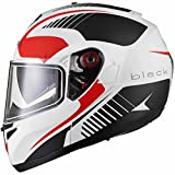 Black Optimus SV Tour Flip Front Motorcycle Helmet XL Matt White Red Grey