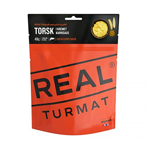 Drytech Real Turmat - Kabeljau in cremiger Currysauce - gefriergtrocknete Outdoornahrung