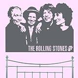 Rolling Stones–Wand Aufkleber art Aufkleber Lounge Wohnzimmer Schlafzimmer (X Groß)