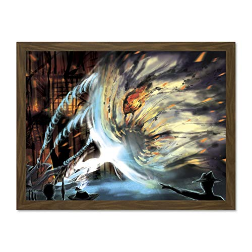 Doppelganger33 LTD Manga Anime Soul Eater Illustration Drawing Magic Spell Large Framed Art Print Poster Wall Decor 18x24 inch Supplied Ready to Hang