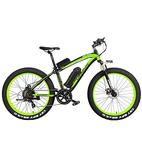 ZDDOZXC XF4000 26 Zoll Pedal Assist Electric Mountain Bike Herren Cruiser Radfahren Rennrad 4,0 Fat Tire Snow Bkie 1000W / 500W Starke Leistung 48V Lithium-Ionen-Akku 7 Geschwindigkeit