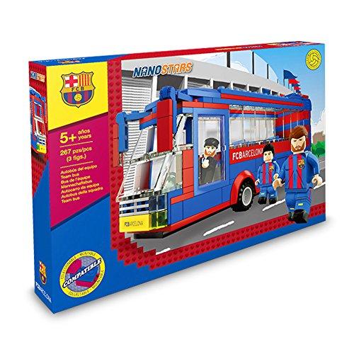 Nanostars Bus d'équipe FC Barcelone 3 figuras, 267 piezas