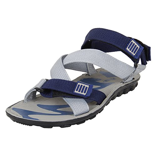 Earton Men's Footwear Grey-850 Canvas Sandals (7 UK)  available at amazon for Rs.198