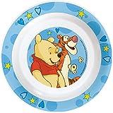 Winnie the Pooh Tiefer Teller aus Melamin, blau, 20 cm Durchmesser, Kindergeschirr