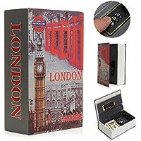 SAFETYON vintage Buchtresor mit zahlenschloss, versteckter Buch Geldkassette im wörterbuch feuerfest, Buchsafes getarnt als Roman 18 X 11.7 X 5.5cm Book Safe Storage London