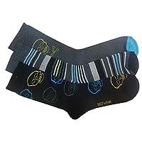 6 x Kid Boy Children Thermal Skull Design Winter Warm Socks Colour:Multi Size:4-6