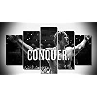 5PCS Framed Epikkanvas Art - Conquer by Arnold Schwarzenegger - 5 Piece Conquer by Arnold Motivation Artwork Canvas on Wall Art for Office and Home Wall Decor (30x40cmx2,30x60cmx2,30x80cmx1)