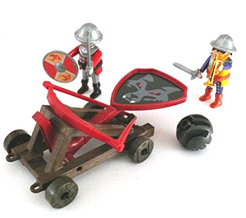 playmobil ® Ritter Burg - Ritterburg - Schleuder, Katapult - 2 Rittern Soldaten