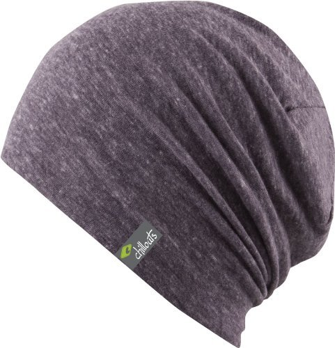 Chillouts Colombo Long Slouch Oversize Beanie Indoormütze Long Beanie Sommermütze (One Size - lila) (Long Lila Beanie)