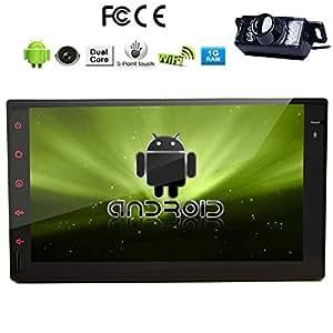 Cam¨¦ra arri¨¨re Inclus !!! Android 4.2 Dual-Core CPU 7 pouces Tablet PC voiture Aucun-DVD Radio Player 2 Din ¨¦cran capacitif au tableau de bord GPS Navigator Bluetooth, la navigation GPS-Ready, iPod-Input, RDS, Wi-Fi