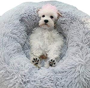 HUIMEIDE Hundebetten Katzensofa Haustierbett   Das Haustierbett eignet sich perfekt für Tiere, die sich gerne zusammenrollen und ein wenig schlummern möchten. Ein erstklassiger Platz für Ihren kleinen Freund, um sich ins Traumland zu begeben.  Dur...