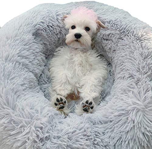 HUIMEIDE Hundebetten Plüsch Haustierbett Haustier Matte Katzensofa Hunde Kuschelbett Hundesofa Weicher Waschbar Katzenbett (60cm*20cm, Grau) -