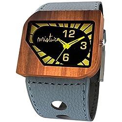 Mistura Avgreyyel Avanti Pui Wood Grey Yellow Neon Watch