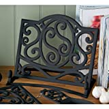 Fabulous Cast Iron Cook book Stand Black Kitchen Book Holder & new Design