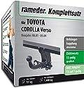 Rameder Komplettsatz, Anhängerkupplung abnehmbar + 13pol Elektrik für Toyota Corolla Verso (117499-04854-1)