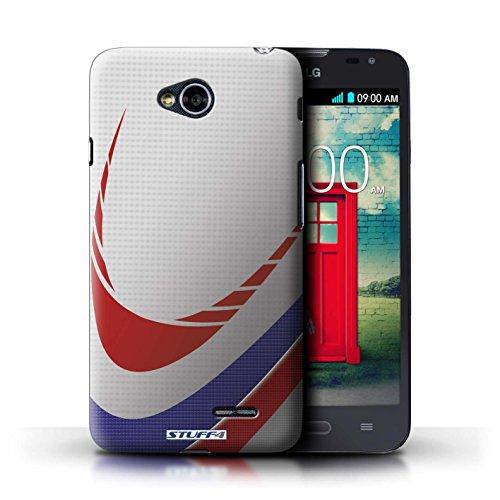 Kobalt® Imprimé Etui / Coque pour LG L70/D320 / Base-ball conception / Série Balle Sportif Rugby