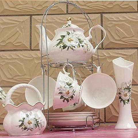 CU Taza de cerámica simple continental establece, hogar café té inglés de la tarde té negro,B