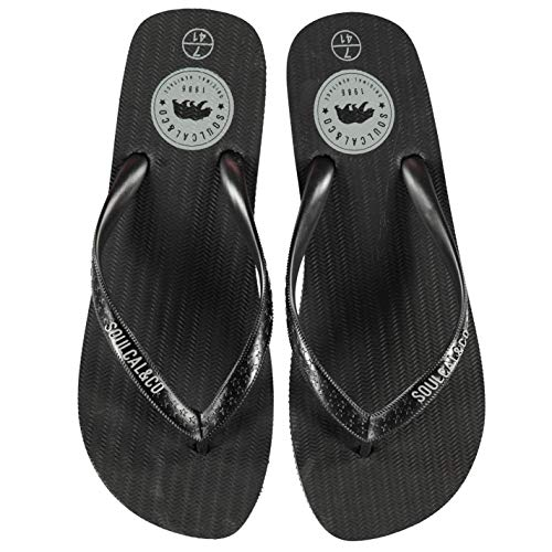 Quiksilver - Sandalias de Vestir de Material Sintético para Hombre, Color Negro, Talla 8