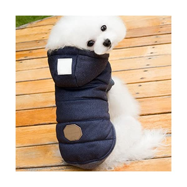 SELMAI Hooded Dog Coat Stylish Small Puppy Dog Clothes(This style run small,pls choose one size larger) 2