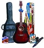 Ashton D25 Pack guitare folk Avec accordeur intégré and accessoires Wine Red (Import Royaume Uni)