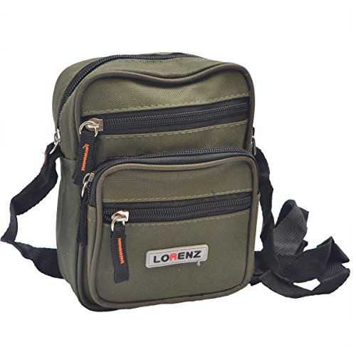 Handy Small Canvas Style Shoulder Bag / Cross Body Bag ( Khaki )