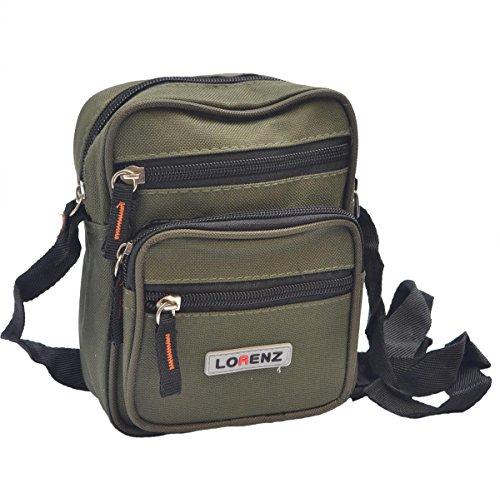 Handy Small Canvas Style Shoulder Bag / Cross Body Bag ( Khaki )