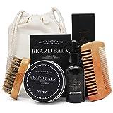 Die besten Freund für Jungen - Aptoco Bartpflege-Set für Männer, Bartbürste, Bartkamm, geruchloses Bartöl Bewertungen