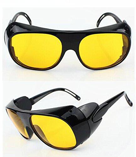 Q-BAIHE Gelbe Laserschutzbrille/Schweißen Schutzbrille/Arbeitsbrille Schutzbrille