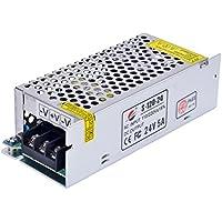 LEORX 5A 24V Regolamentato Commutazione Ferro Alloggiamento Lungo Adattatore di (Regolamentato Interruttore)