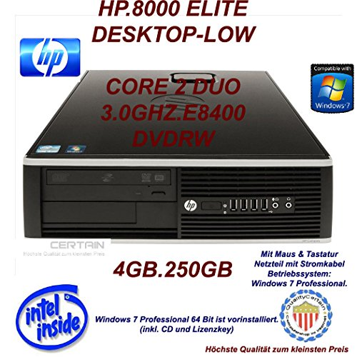 dvd brenner mit lightscribe HP Compaq 8000 Elite SFF Desktop Business PC (Intel Core 2 Duo E8400 3.00 GHz, 2 GB RAM, 250 GB HDD, GMA X4500, DVD-Brenner, OHNE Betriebssystem)