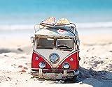 Papillon Super-saugfähiger Badteppich, Polyester, Motiv Bus am Strand, Mehrfarbig, 60x 40cm
