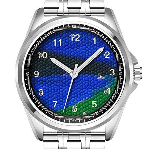 Personalized Men's Watch Fashion Waterproof Watch Wristwatch Diamond_924.Painting Mosaic Tiles