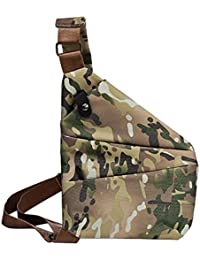 Rrimin Anti-Theft Multifunctional Digital Storage Men Waist Crossbody Chest Bags (Camo 2 Left Chest)
