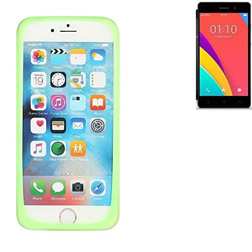K-S-Trade Für Oppo R5s Silikonbumper/Bumper aus TPU, Grün Schutzrahmen Schutzring Smartphone Case Hülle Schutzhülle für Oppo R5s
