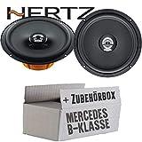 Lasse W245 Front - Hertz DCX 165.3-16cm Koax Lautsprecher - Einbauset für Mercedes B- JUST SOUND best choice for caraudio