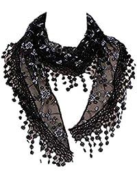 fa8d20995720 MRULIC Echarpes foulards femme Foulard en fausse fausse Fourrurede raton  laveur D élevage Véritable Élégant